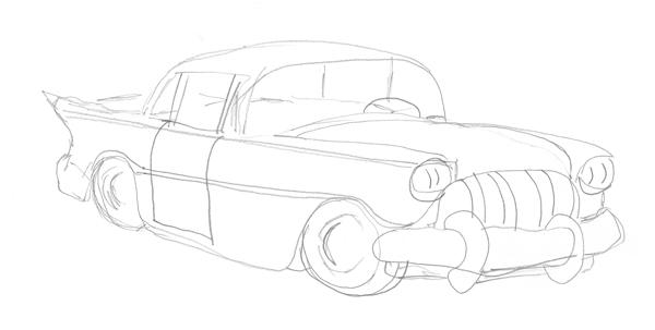 Classic car sketch-02