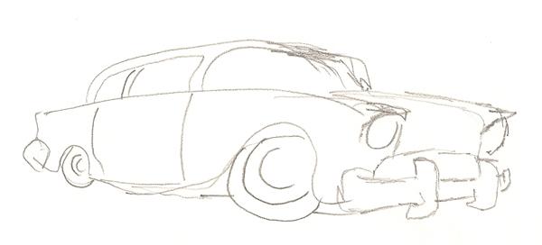 Classic car sketch-03