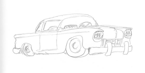 Classic car sketch