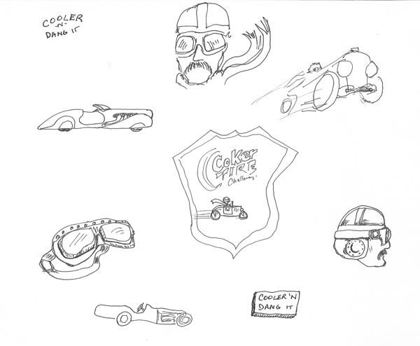 Coker Tire Challenge 2012 t-shirt sketch-02
