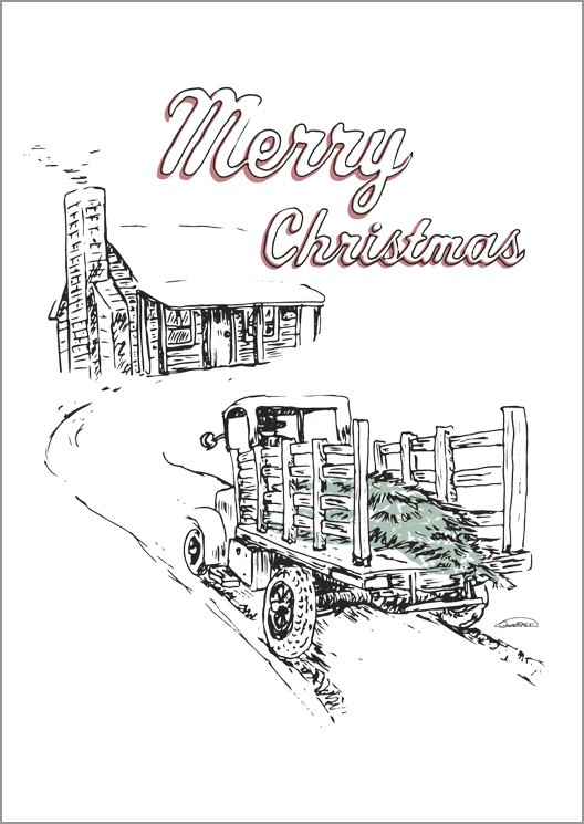 Christmas Card Universal Vintage Tire 2012